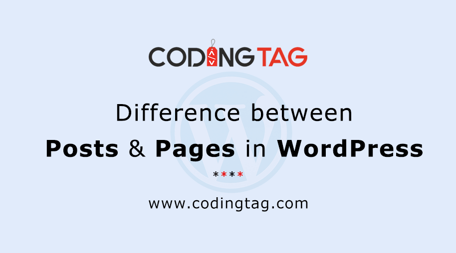 Difference between Posts and Pages in WordPress