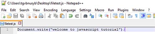 JavaScript External