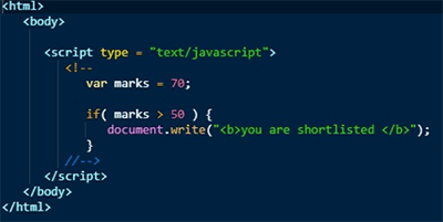 JavaScript Conditional Statement