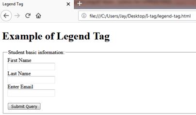 LEGEND <legend> Tag