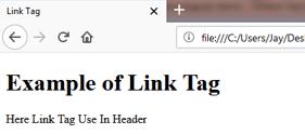 LINK <link> Tag