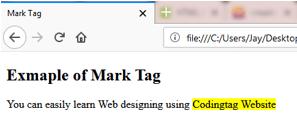 MARK <mark> Tag