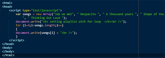 Loop in Javascript