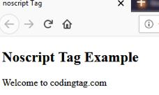 NOSCRIPT <noscript> tag