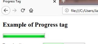 PROGRESS <progress> Tag
