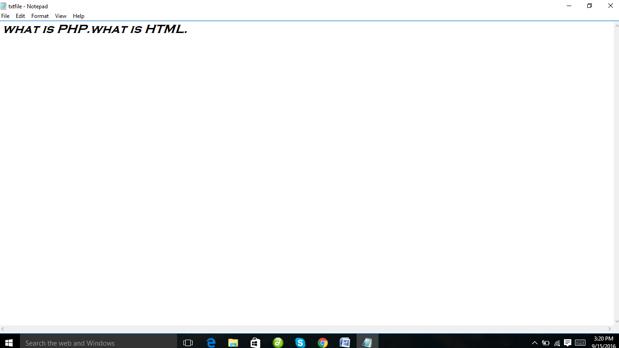 PHP File Create/Write