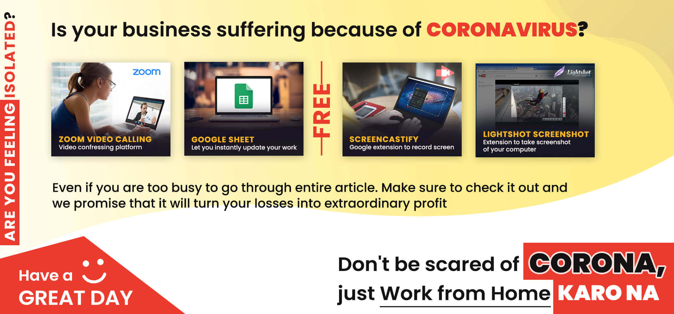 Is your business suffering because of Coronavirus ?