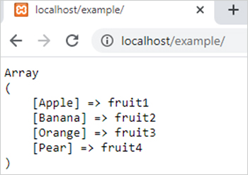 array_flip() function in php