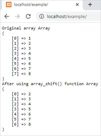 array_shift() function in php