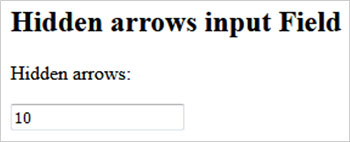 How to remove arrows from input field in HTML5