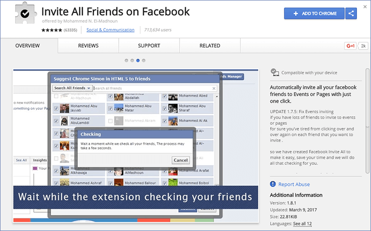 How To Invite All Friends On Facebook Page In One Click - In 20 Seconds