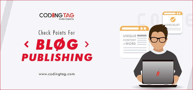Check points for Blog Publishing