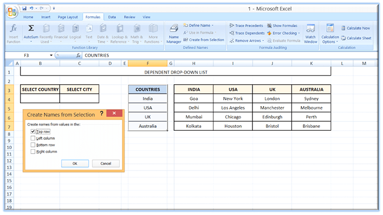 How create dropdown list in Excel