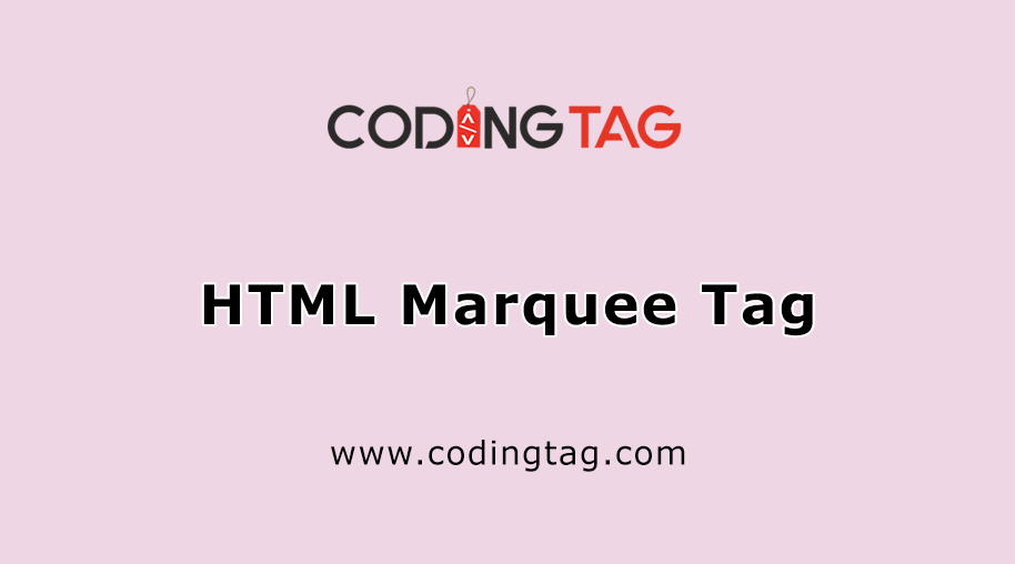 HTML Marquee Tag ?