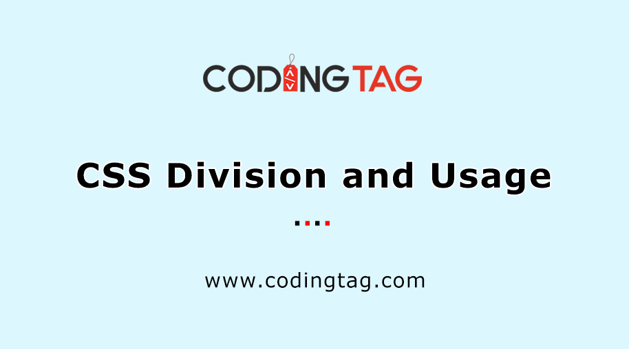 CSS Division and Usage