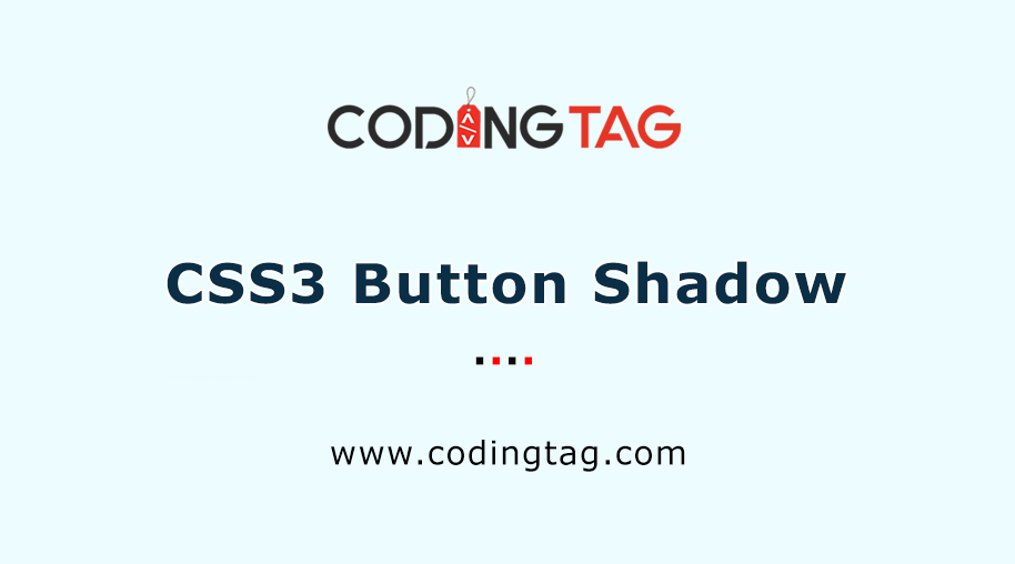 CSS3 Button Shadow