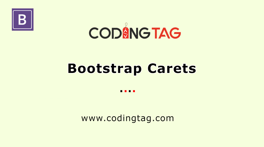 Bootstrap Carets