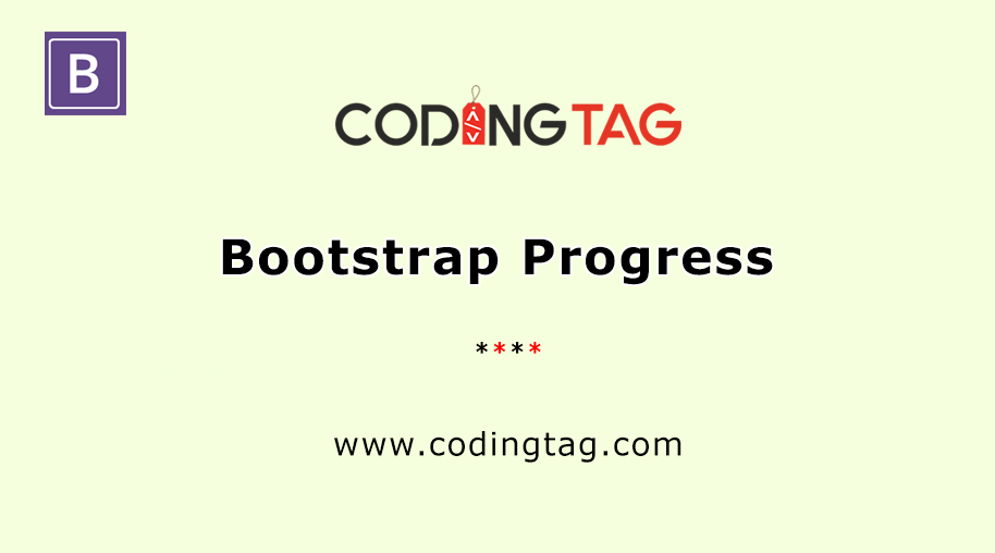 Bootstrap Progress