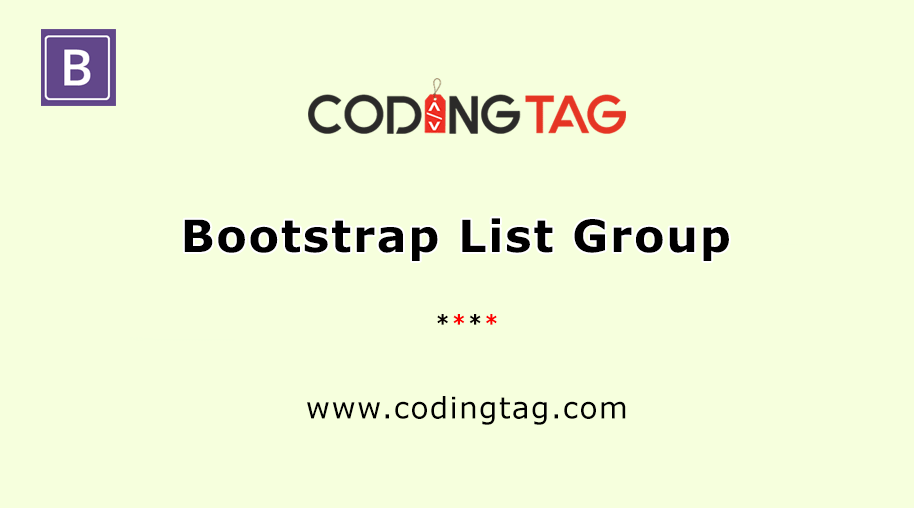 Bootstrap List Group