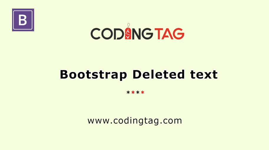 Bootstrap Deleted text