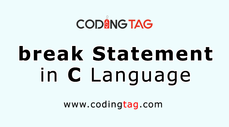Break Statement in C
