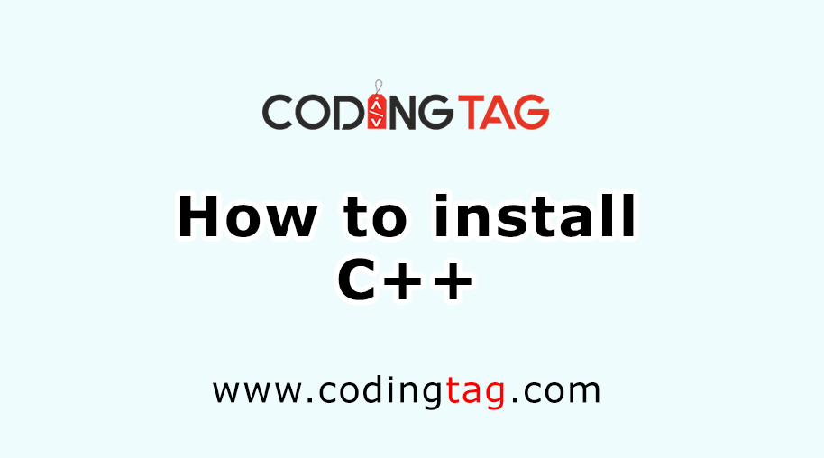 How to install C++