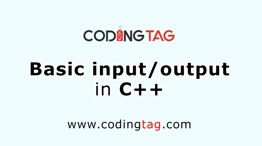 Basic Input / Output in C++