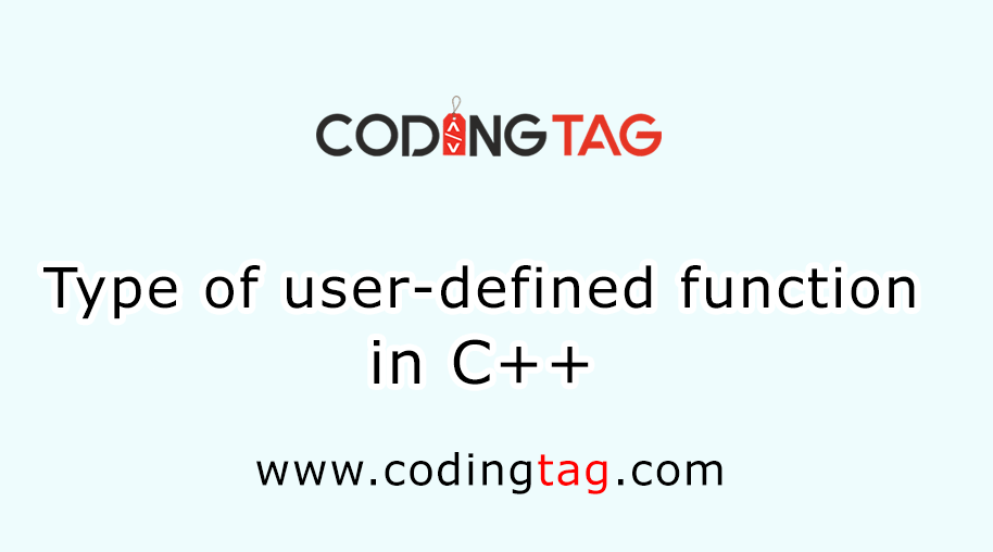 Type of user-defined function in C++