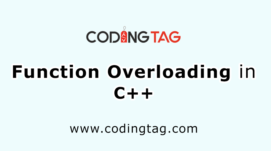 Function Overloading in C++