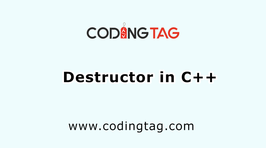 Destructor in C++