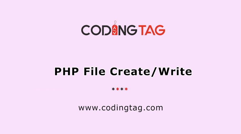 PHP File Create/Write