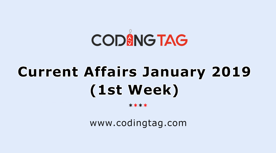 Current Affairs 4th Week June 2019 || General Knowledge 2019