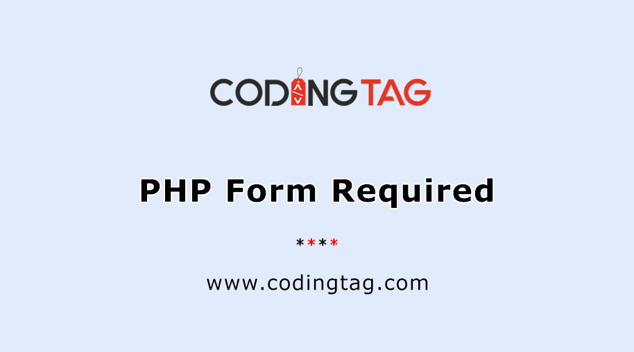PHP Form Required