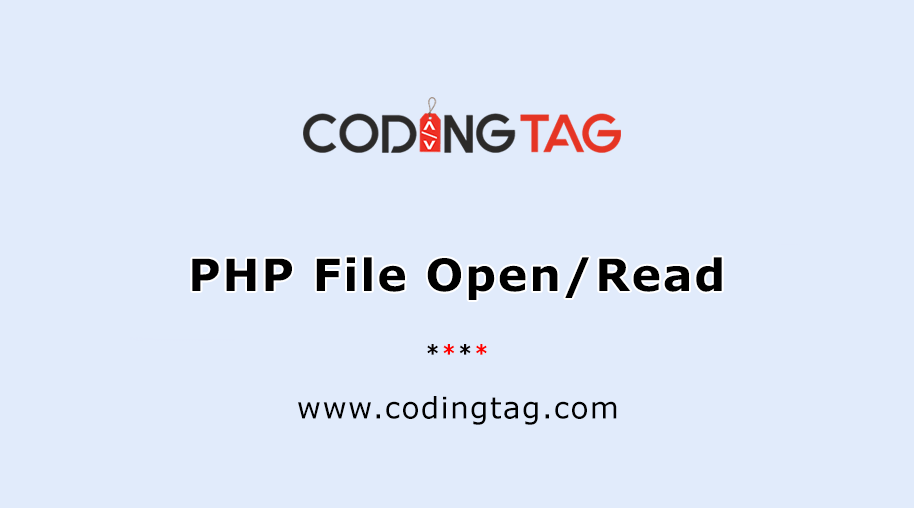 PHP File Open/Read