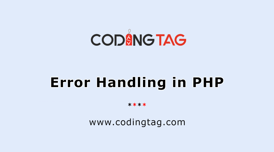 Error Handling in PHP