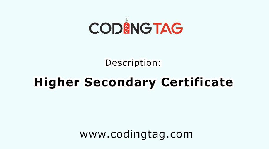 Higher Secondary Certificate(HSC)