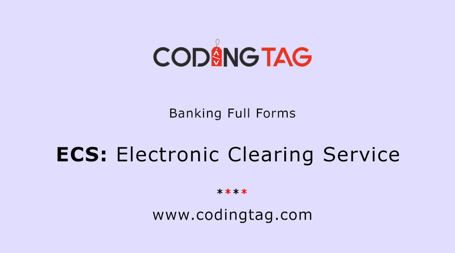 Electronic Clearing Service (ECS)