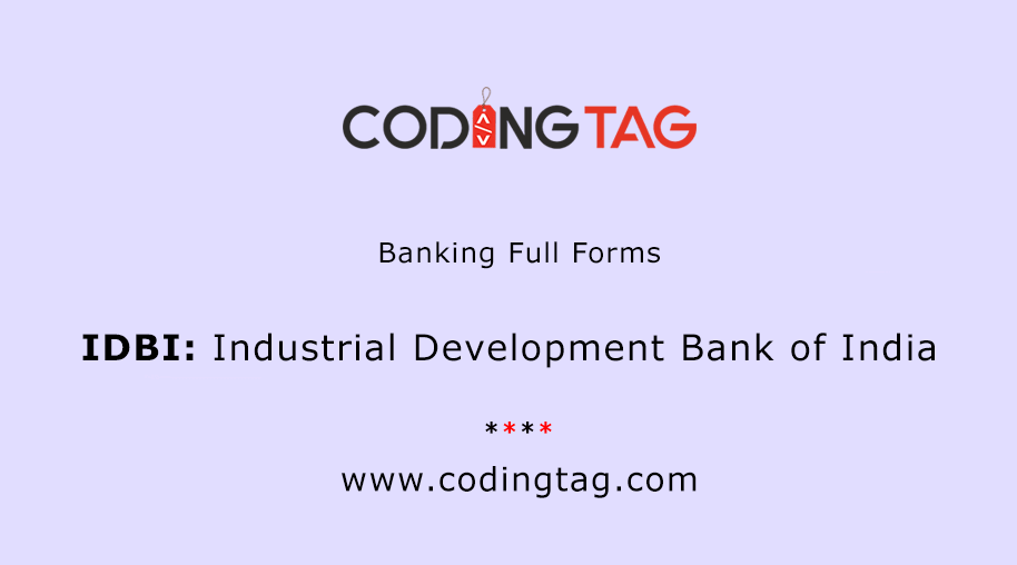 Industrial Development Bank of India (IDBI)
