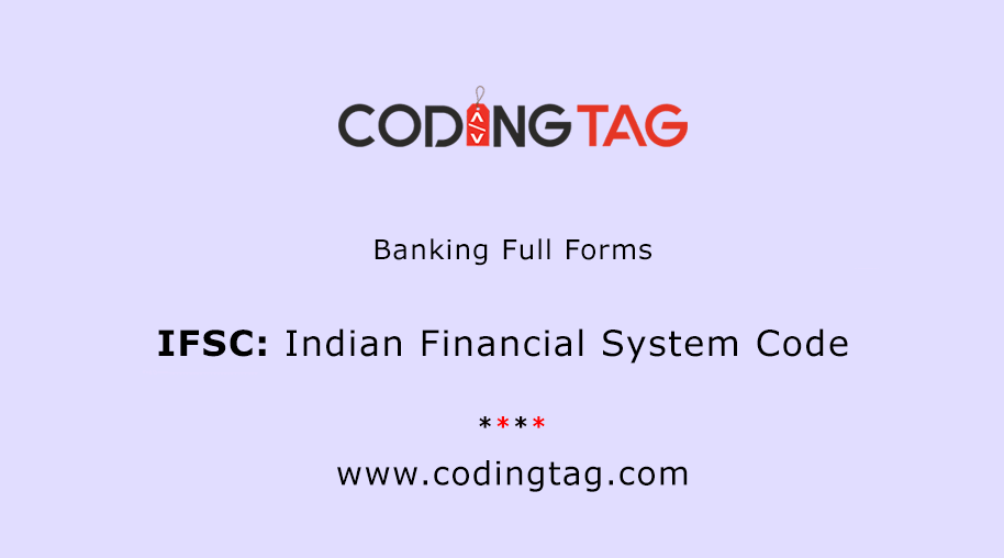Indian Financial System Code (IFSC)