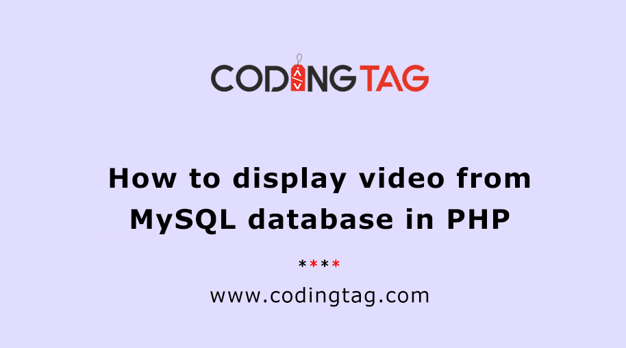 How to display video from MySQL database in PHP