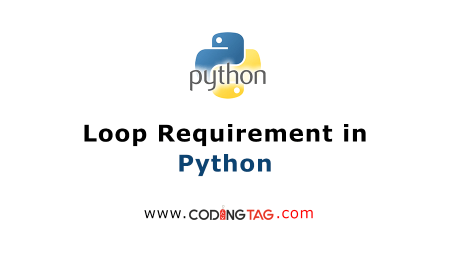 Loop Requirement in Python