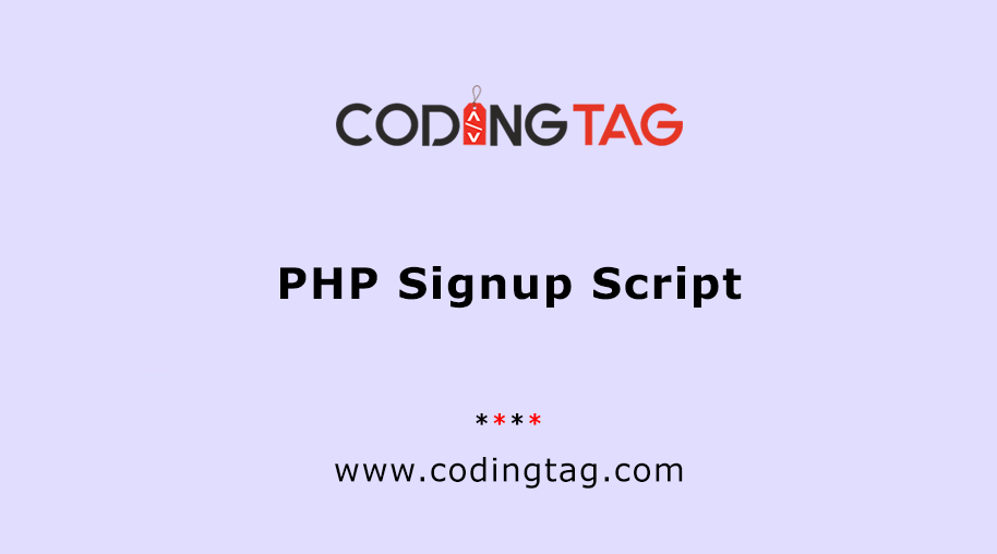 PHP Signup Script