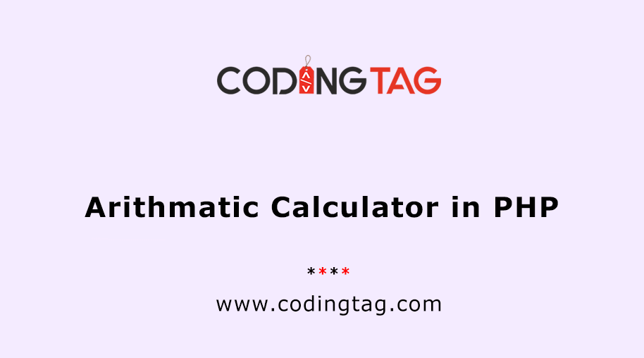 Arithmatic Calculator in PHP