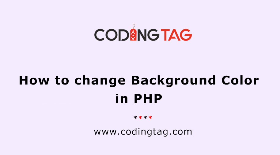 How to change the Background Color in PHP