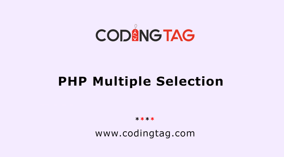 PHP Multiple Selection