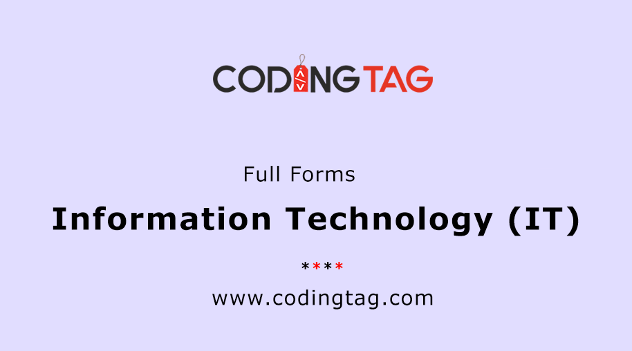 Information Technology (IT) Full Forms