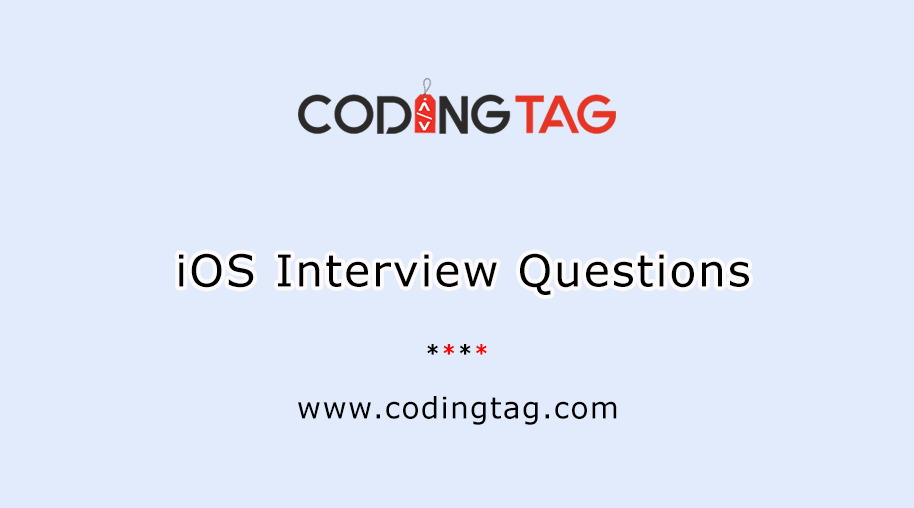 iOS interview questions 2020 for ios developer