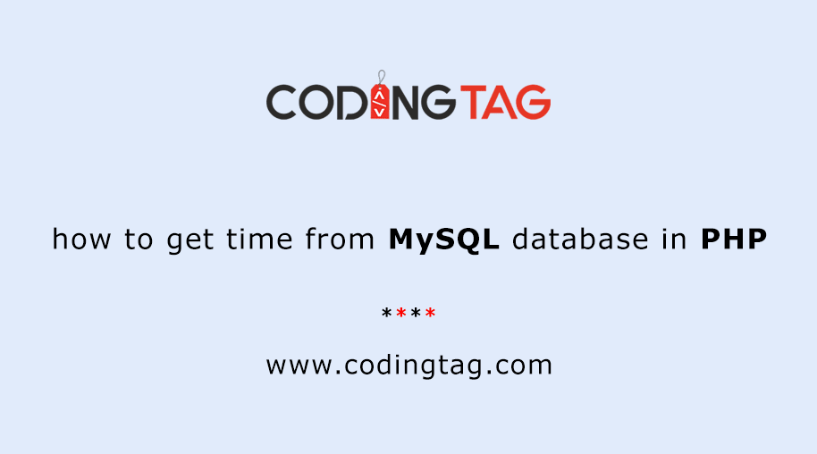 how to get time from MySQL database in PHP