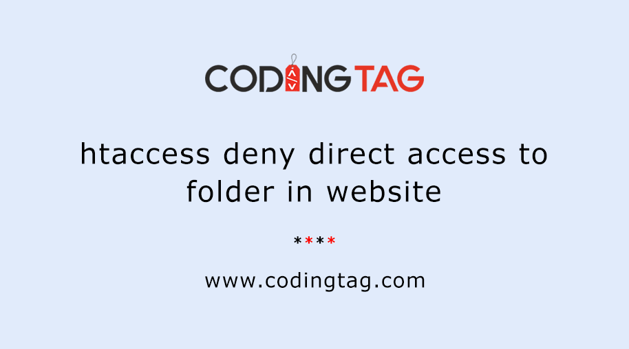 htaccess deny direct access to folder in website