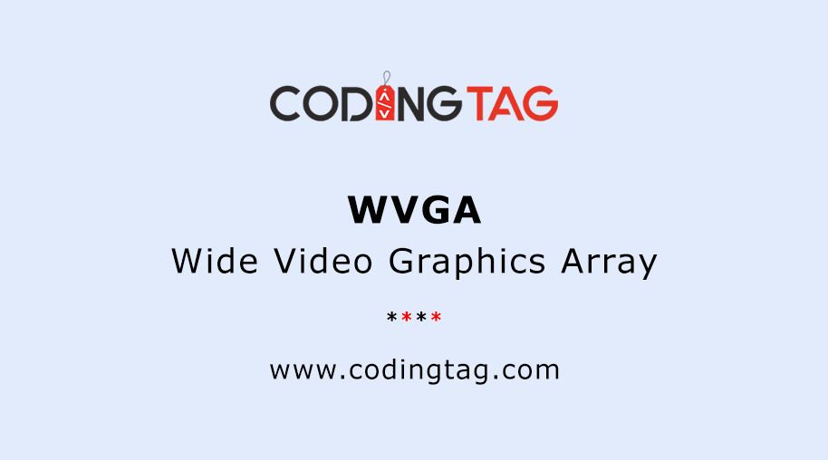 Wide Video Graphics Array (WVGA)
